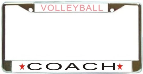 Volleyball Coach License Plate Frame (Brand New)