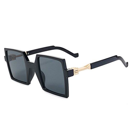 De De Gray Gran La De Azul Unas TIANLIANG04 Sol Mujer Anteojos Mujeres Black Gafas De Uv400 Fondo Enormes Telón Negro Piazza qAvw8