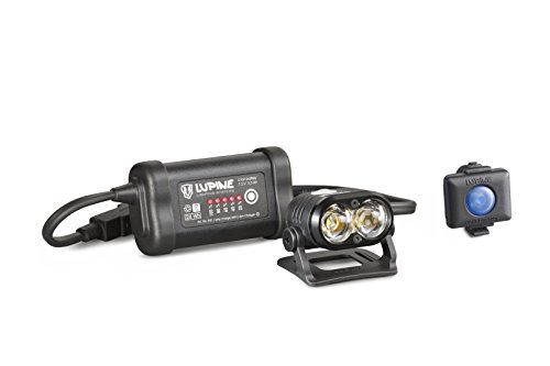 Lupine Lighting Systems Piko R 4 Smartcore 1800 Lumen 3.3 Ah SmartCore battery, 2x velcro, helmet mount with velcro, Wiesel charger, 120cm extension cable, Bluetooth Remote + mount (2018 Model) by Lupine Lighting Systems
