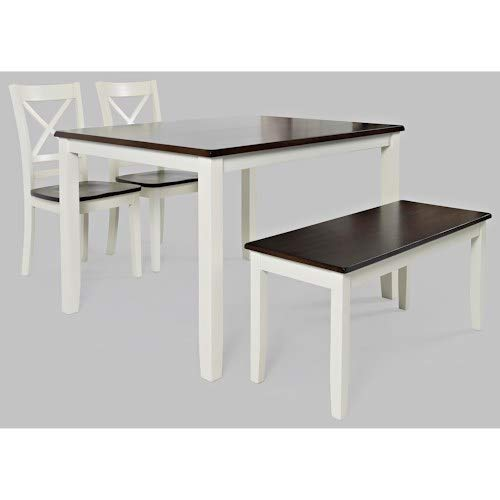 Jofran 4-Pc Dining Table Set in White and Autumn
