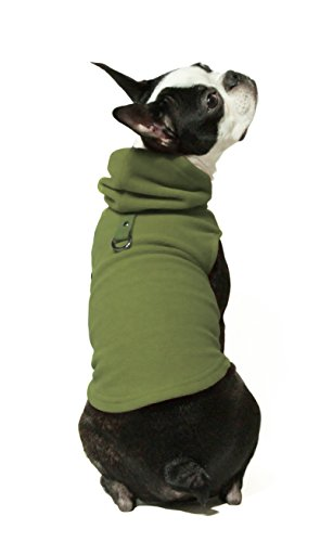 Product image of Gooby Every Day Fleece Cold Weather Dog Vest with Hoodie for Small Dogs, Green, Small