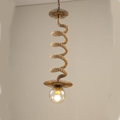 Iluminación colgante,Eólica Industrial restauración de antiguas formas tienda de ropa, cuerda de cáñamo