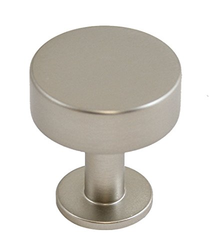 Lew's Hardware Bar Series - Brushed Nickel Cabinet Knobs and Pulls (Disc Knob)