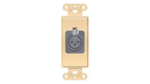 tor format XLR 3-Pin Female solder back plate insert ()
