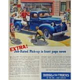 ull Page Color print ad. Illustration, painting (Ross art-delivering newspapers) Original Vintage 40's Magazine Art ()