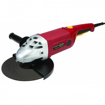 9 inch Heavy Duty Angle Grinder with side handle, wheel guard, arbor nut wrench, hex key