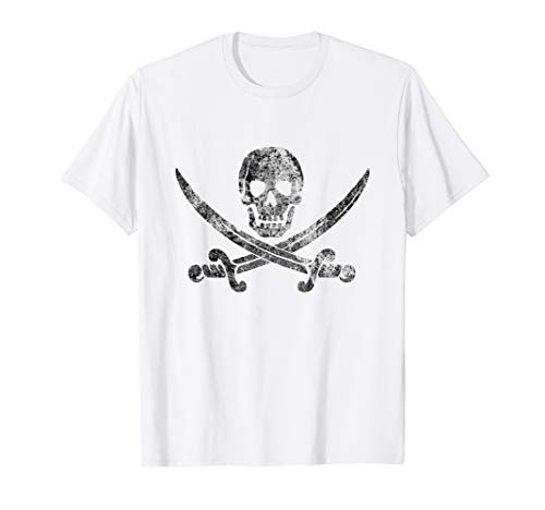 Vintage Pirate Skull shirt - Jolly Roger Flag Tshirt