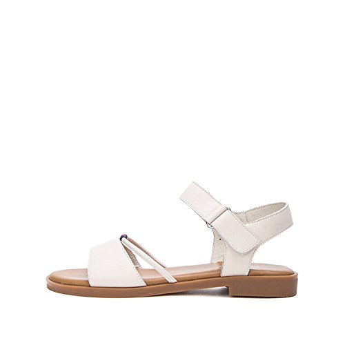 DHG con tacco alti alla Sandali basso Tacchi tacco da bufalo estivi a di moda 38 donna pelle Sandali basso Pantofole Sandali casual piatti rxPrUZFnXq