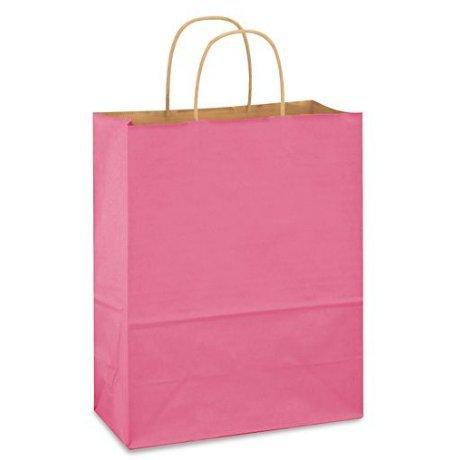Pink Bags, 15 Large Kraft Paper Gift Wrap Bags (13