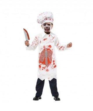 Partilandia Disfraz Zombie Cocinero para niño(4-6 años) 20115
