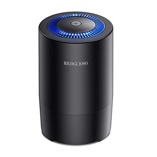 RIGOGLIOSO Air Purifier for Home Bedroom, Capture 99.97% Airborne Particles as Small as 0.3 Microns, Compact HEPA Air…