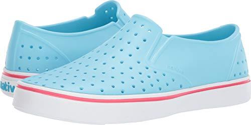 Native Shoes Unisex Miles Hamachi Blue/Shell White 9 Women / 7 Men M US (Jane White Adult Shoes)