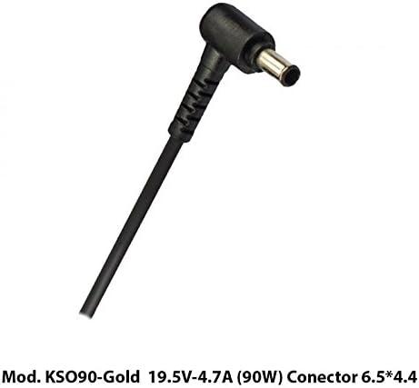KLONER KSO90-GOLD Adaptador e inversor de Corriente Interior 90 W Negro - Fuente de alimentación (Interior, 100-240 V, 50/60 Hz, 90 W, 19.5 V, 4,7 A): Amazon.es: Informática