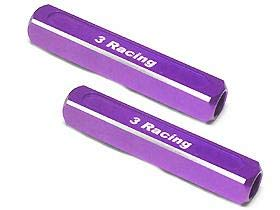 - 3Racing #ST-003/PU 13mm Chassis Droop Gauge Blocks (2 Pcs) - Purple for 3Racing All