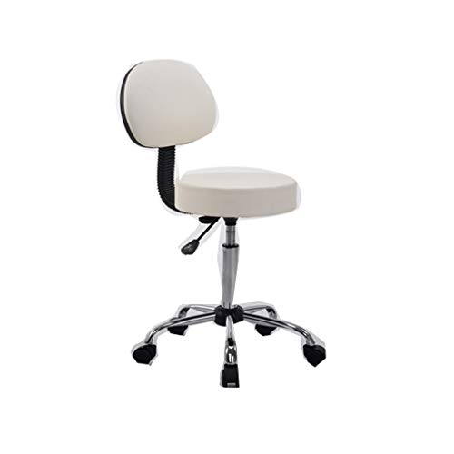 Fangfang Barstool Lift bar Chair Rotating can Lift high-Rise Steel Bench Stool 5 Colors (Color : White) Counter Display Red Nylon Handle
