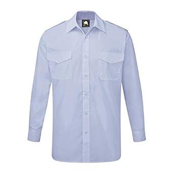ORN Workwear 5810 The Essential L/S - Camisa de piloto, color azul cielo, talla 20: Amazon.es: Amazon.es