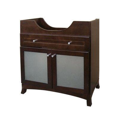 Ronbow Essentials Adara 31 Inches Space Saver Bathroom Vanity in Dark Cherry 053831-71-H01