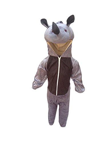 (Rhino fancy dress for kids,Wild Animal Costume for School Annual)