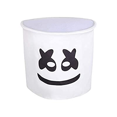 DJ Marshmallow Costume Kids Game Pajamas Sets Halloween Carnival Cosplay Tight-Fitting with Full Head Masks: Clothing
