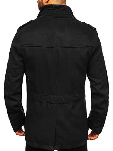 BOLF Homme Manteau Trench-Coat Double rangée élégant Col Montant Haut Col a Revers Imperméable Veste Longue avec…