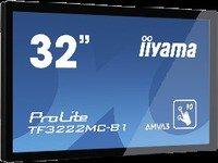 Iiyama 31,5 10 point Capactive Touch 1080p, 20/7, 425nits, TF3222MC-B1 (1080p, 20/7, 425nits AMVA3 panel 1920x1080, Scratch resistance, Open frame, Palm Rejection, IP54)