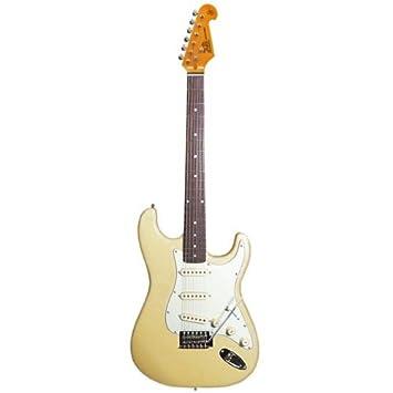 Guitarra eléctrica vintage SX SST62 en blanco: Amazon.es: Instrumentos musicales