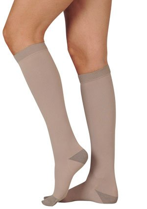 Juzo Silver Knee High 20-30mmHg Closed Toe, III, Silver by Juzo