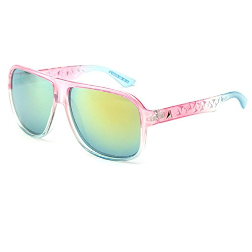 Sol de C Gafas Caja Big B GCC Transparente Reflectante Retro Gafas Las Sol de Film Box qEUF6wt