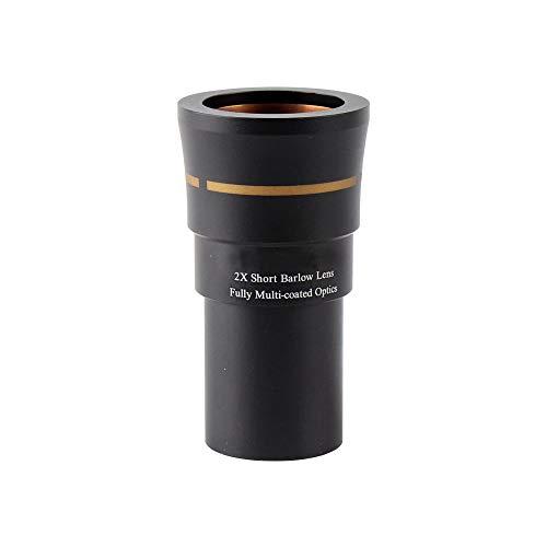 DoubleSun 3-Elements 2X Short Barlow Lens-1.25-inch Fully Multi-Coated Optics