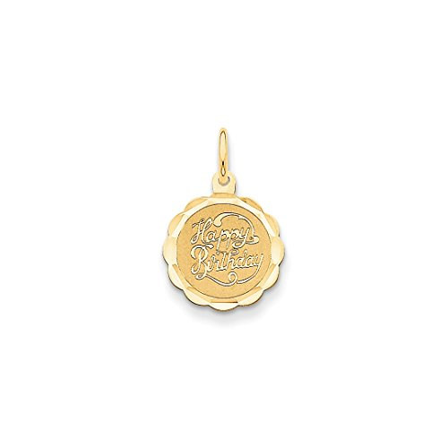 Scale Yellow 18th (14k Yellow Gold Happy Birthday Pendant Charm Necklace Special Day Fine Jewelry Gifts For Women For Her)