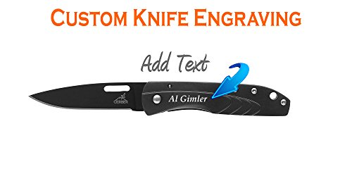[Custom Engraved Gerber STL 2.5m Drop Point, Fine Edge Knife 31-000716] (Edge Drop Point)