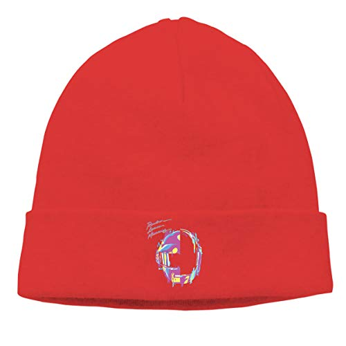 MUtang Daft Punk �RAM Remix Skull Hats Knitted Cap Beanie Red