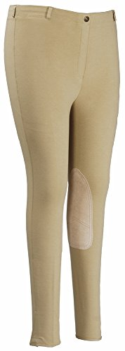 ton Pull-On Knee Patch Plus Breeches, Light Tan, 42 (Light Cotton Riding Breeches)