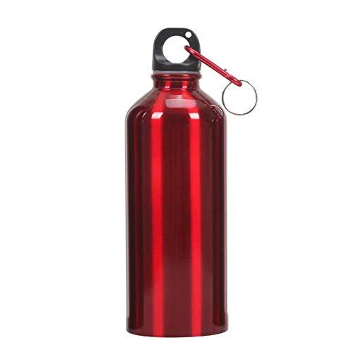 la al de Matefielduk de tapa deportes Rojo de 600ml agua con La caldera libre de de la aluminio botella aire bici la los deportes portátil XEE1f