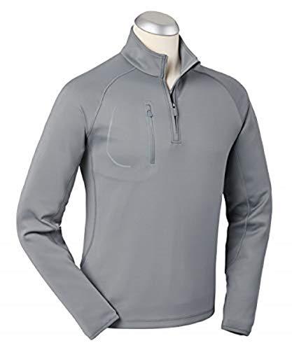 (Bobby Jones XH2O Crawford Performance Golf Pullover - Men's 1/4 Zip Pullover Golf Apparel Graphite)