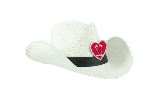 NFL Arizona Cardinals Women's Crystal Cowgirl Hat, White