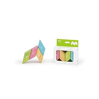 4 piece Tegu Magnetic Wooden Block Parallelograms Set - Tints: Toys & Games