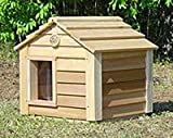 20 Inch Cedar Cat House : Size SMALL CEDAR - INSULATED