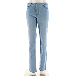 Isaac Mizrahi True Denim Straight Leg Jeans A274473