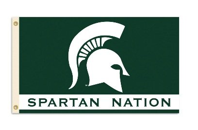 Michigan State Spartans 3 Ft. X 5 Ft. Flag W/Grommets Michigan State Spartans 3 Ft. X 5 Ft. Flag W/