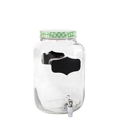 dcasa - Dispensador de bebidas cristal vintage para 8 litros