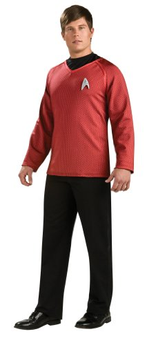 Rubie's Star Trek Grand Heritage Scotty Shirt With Emblem, Red/Black, Large Costume