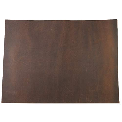 Hide & Drink, Thick Leather Square (8 x 11 in.) for Crafts/Tooling/Hobby Workshop, Heavy Weight (3.5mm) :: Bourbon ()