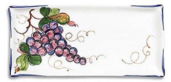 Hand Painted Rectangular Antipasti Grape Tray - Handmade in Italy