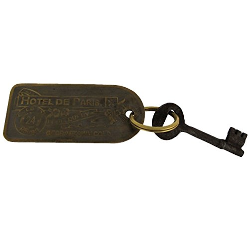 Old West Hotel Whore House Brothel Room Key Cast Iron W Brass Tag Keychain Set