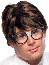 Nerd Wig (Men Character Brown Wig)