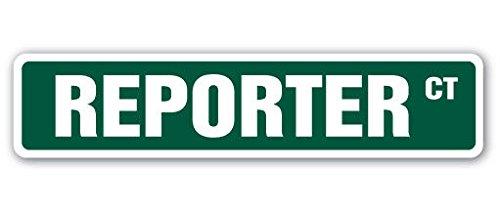 REPORTER Street Sign news host anchorman tv camera| Indoor/Outdoor | 8