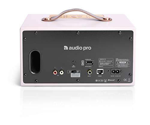 Audio Pro Addon C5 Rosa Altavoz - Altavoces (Inalámbrico y alámbrico, Bluetooth/RCA/3.5mm, 50-20000 Hz, Rosa)