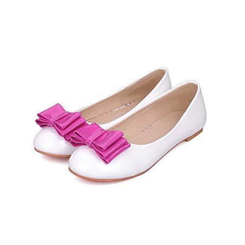 Assortito Donna Ballet Luccichio Flats Tacco Colore Tonda Bianco AgooLar Basso Punta GMMDB008376 TgXqRg