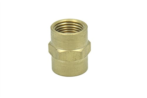 Female Pipe Coupling - Generic Brass Pipe Fitting 1/8